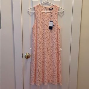 Tommy Hilfiger pink lace dress never worn! Size 8